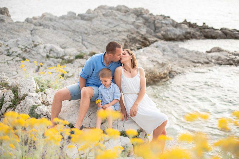 Séance photo de famille  – sur Cap d'Antibes