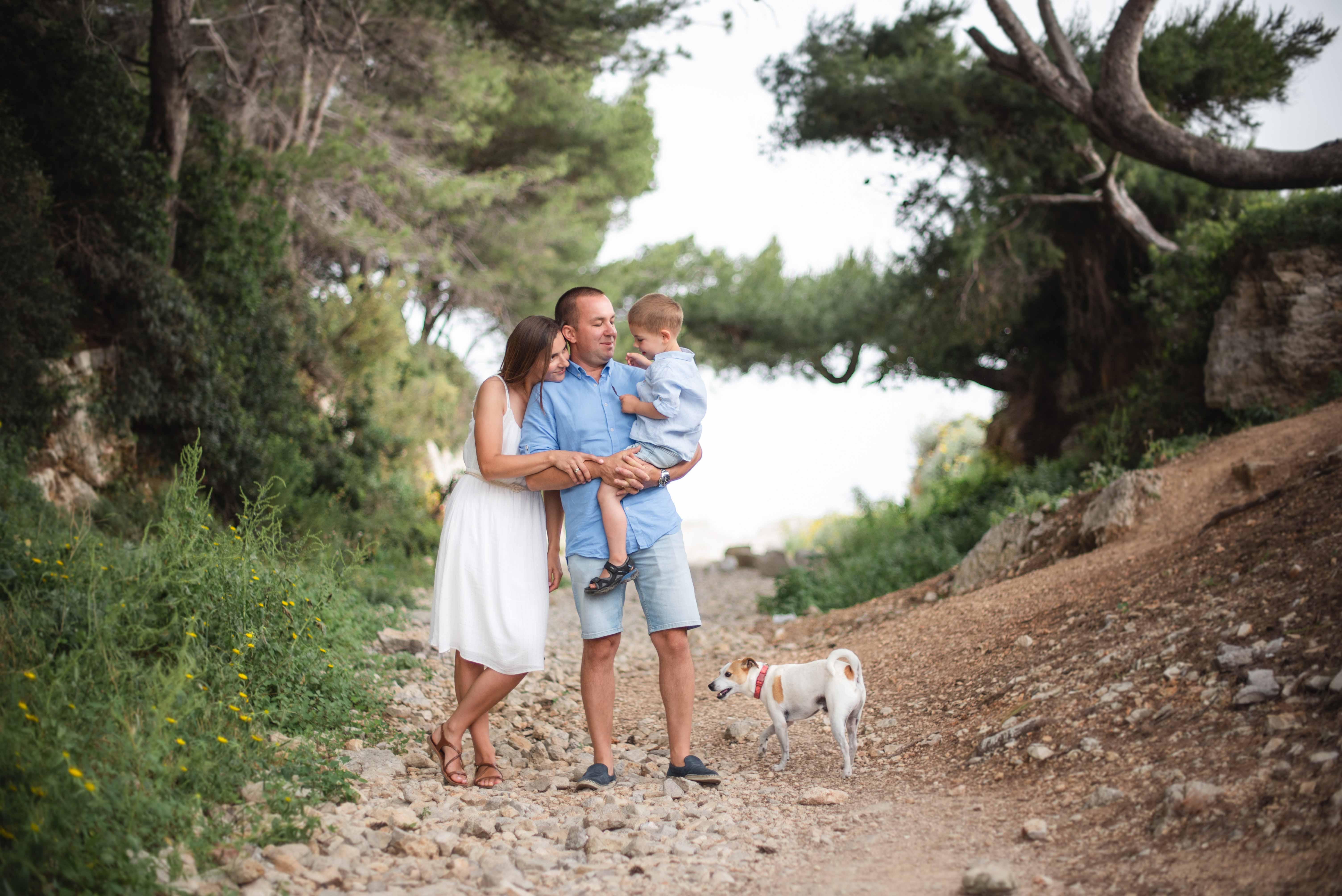 Séance photo de famille Villeneuve-Loubet